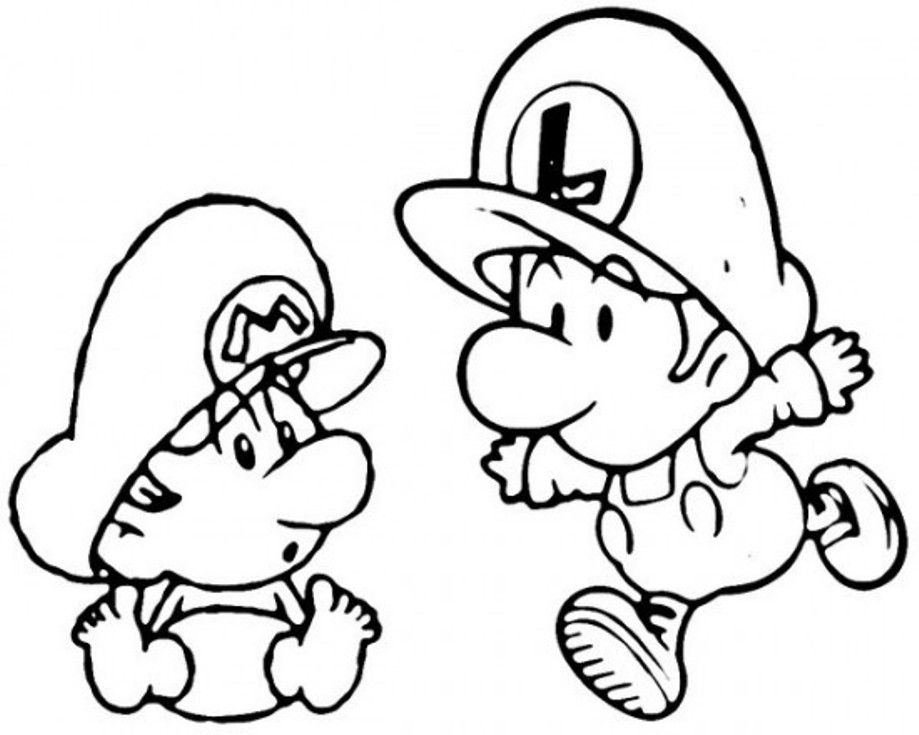 Download Baby Mario And Luigi Coloring Pages Or Print Baby Mario