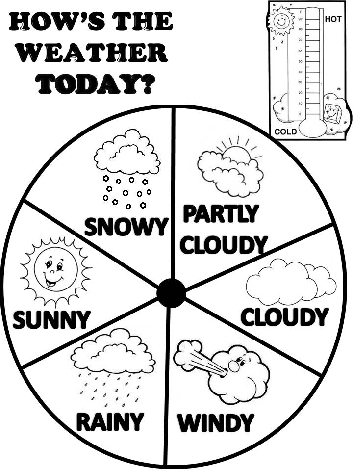Weather Coloring Pages Kids - Coloring Home