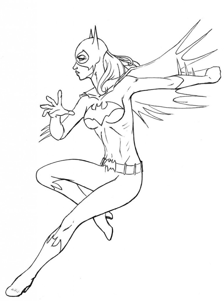 Batgirl Coloring Page Az Coloring Pages