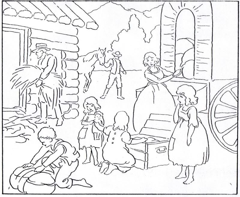 prioneer coloring pages - photo#11