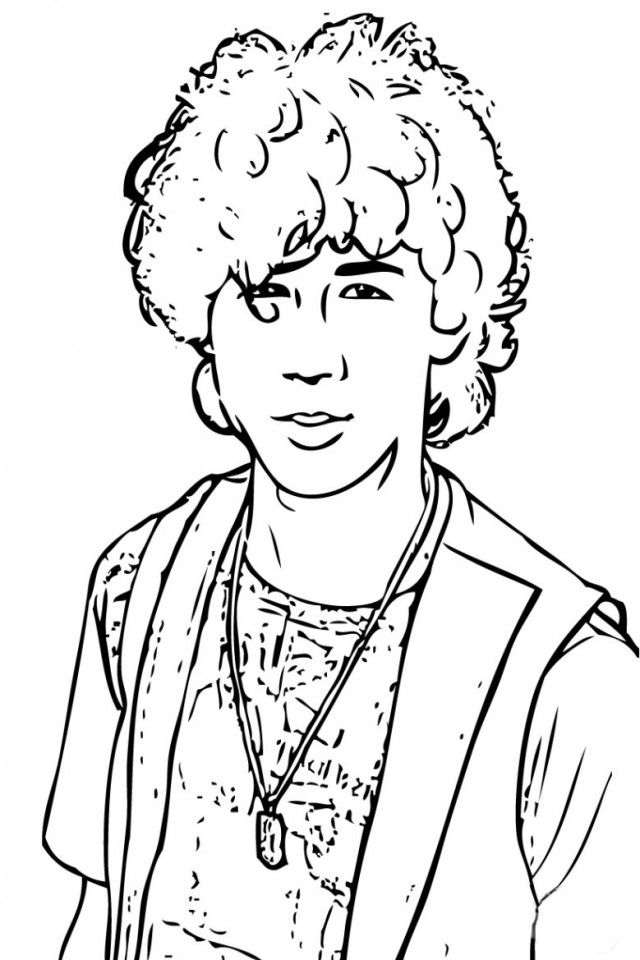 jonas brothers printable coloring pages - photo#36