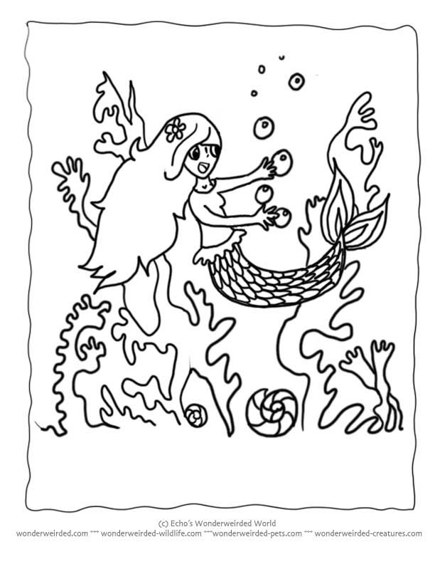 Little Mermaid Coloring Pages Book, Free Mermaid Coloring Pages