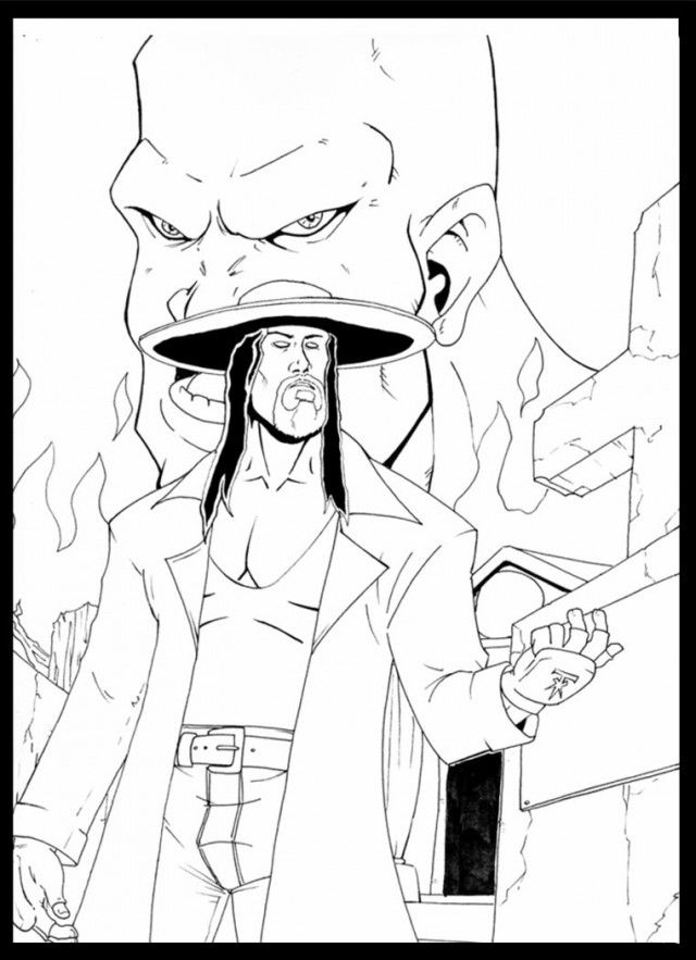 kane mask coloring pages - photo#24