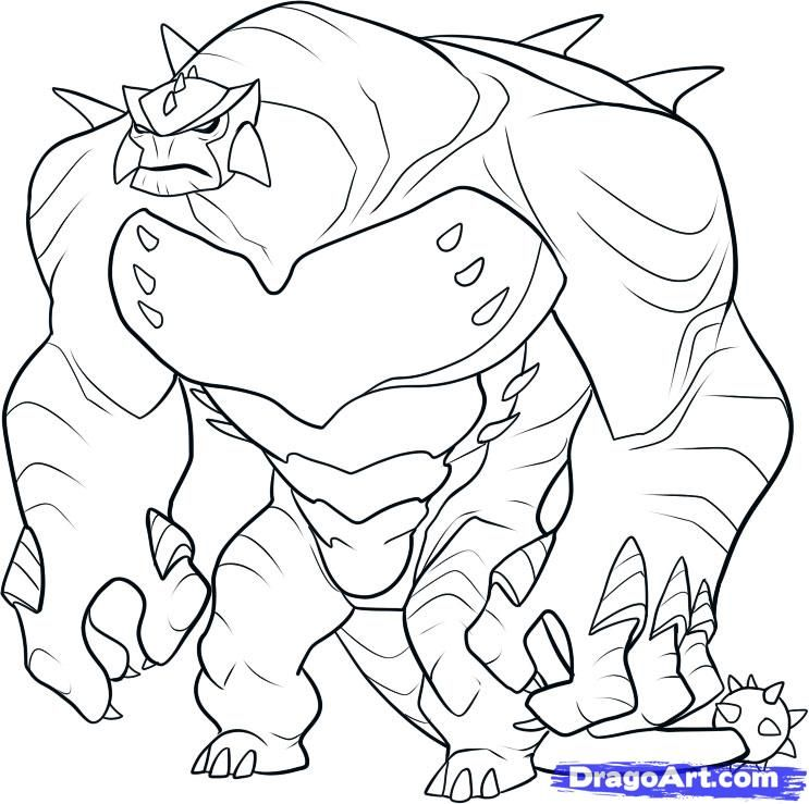 Online Coloring Pages Ben 10 Ultimate Alien