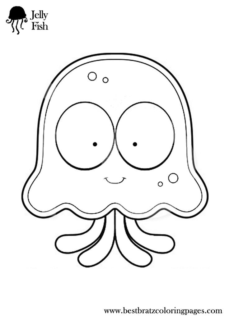 coloring pages jellyfish - photo #17