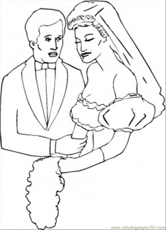 Bride And Groom Coloring Pages Coloring Home And Groom Coloring Pages