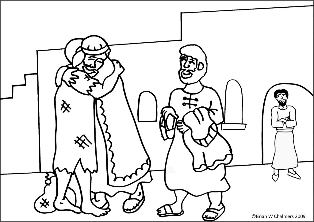 Prodigal Son Coloring Page - Free Coloring Pages For KidsFree