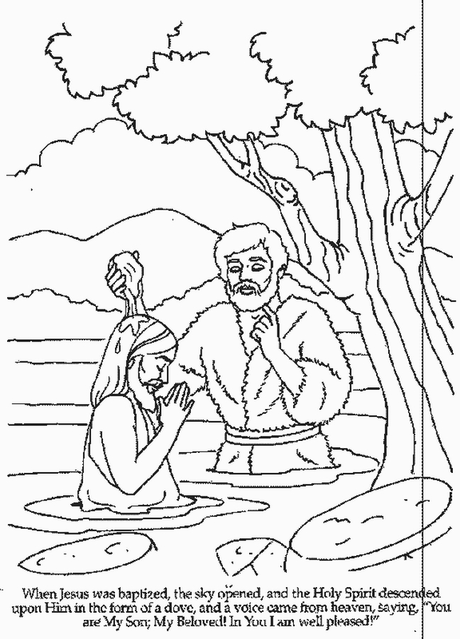 baptism coloring pages for children - photo#17