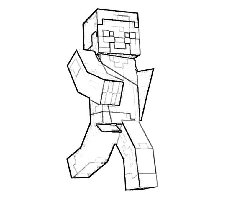 minecraft wolf Colouring Pages