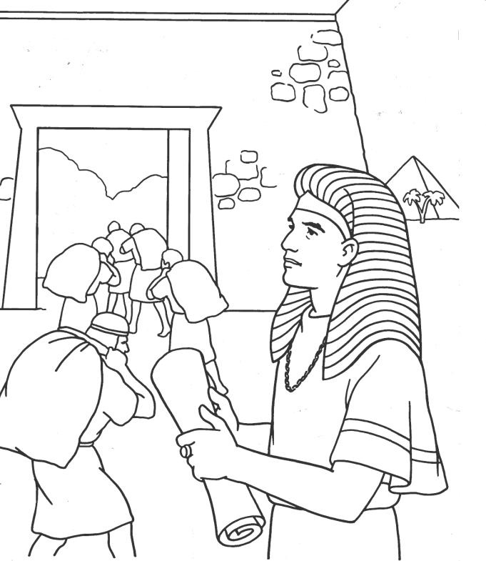 joseph in egypt coloring pages - photo#1