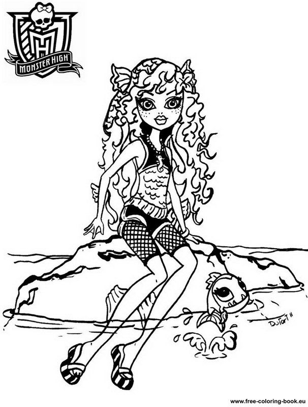 Coloring Pages Monster High - Coloring Book Free Printable ...