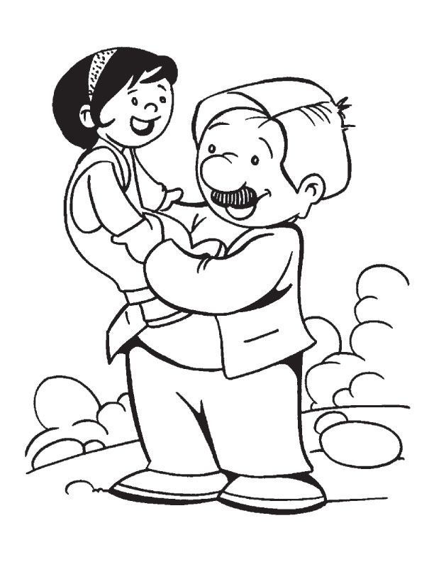 My Dad is best father in the world coloring page | Download Free