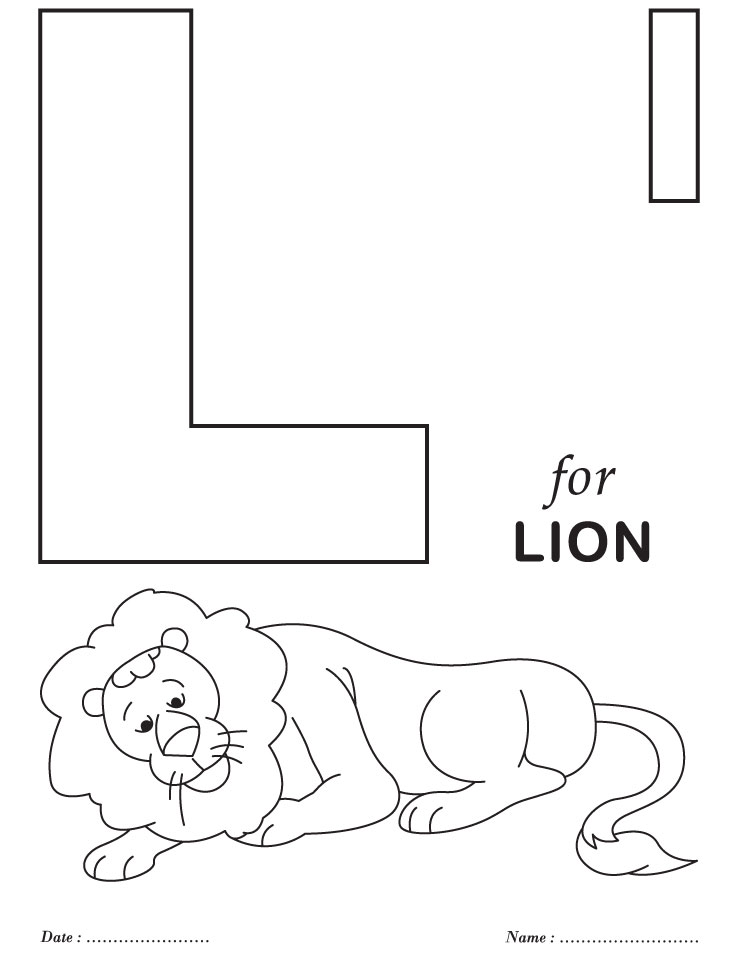 Letter l coloring pages az coloring pages for L coloring pages