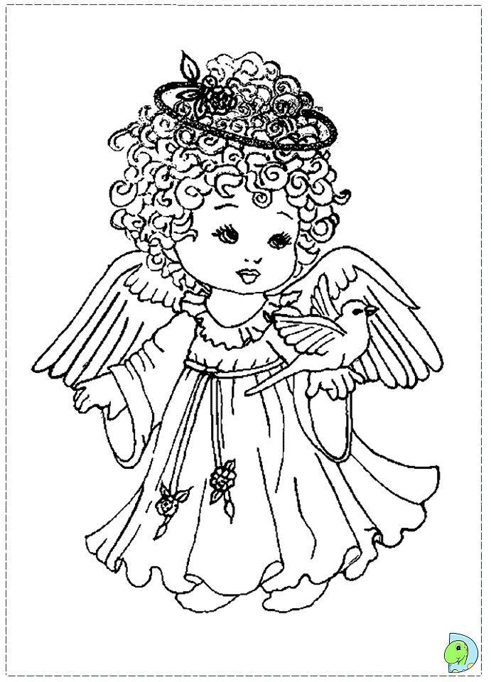 Colouring Pages Of Christmas Angels : Christmas Angel Coloring Pages AZ Coloring Pages