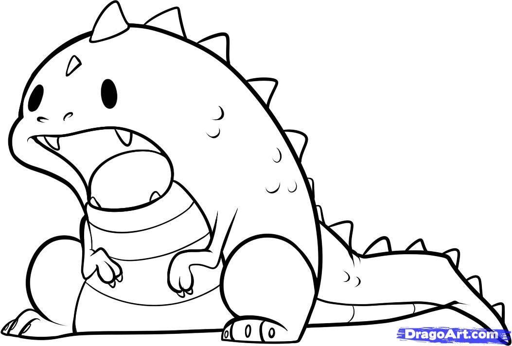 Easy Drawing Dinosaur