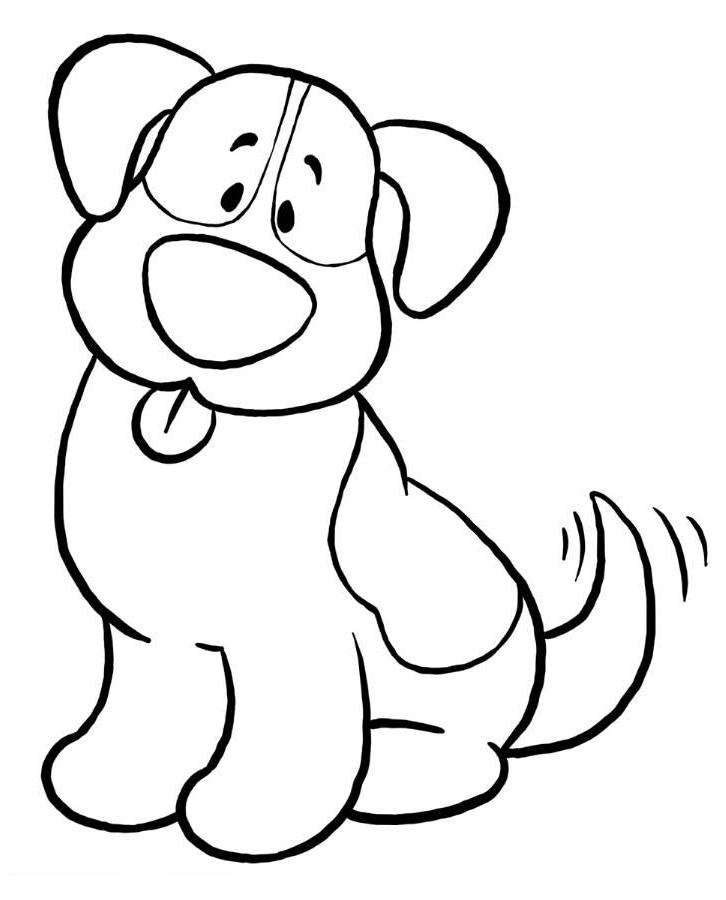 Print Simple Dog Coloring Pages Or Download Simple Dog Coloring