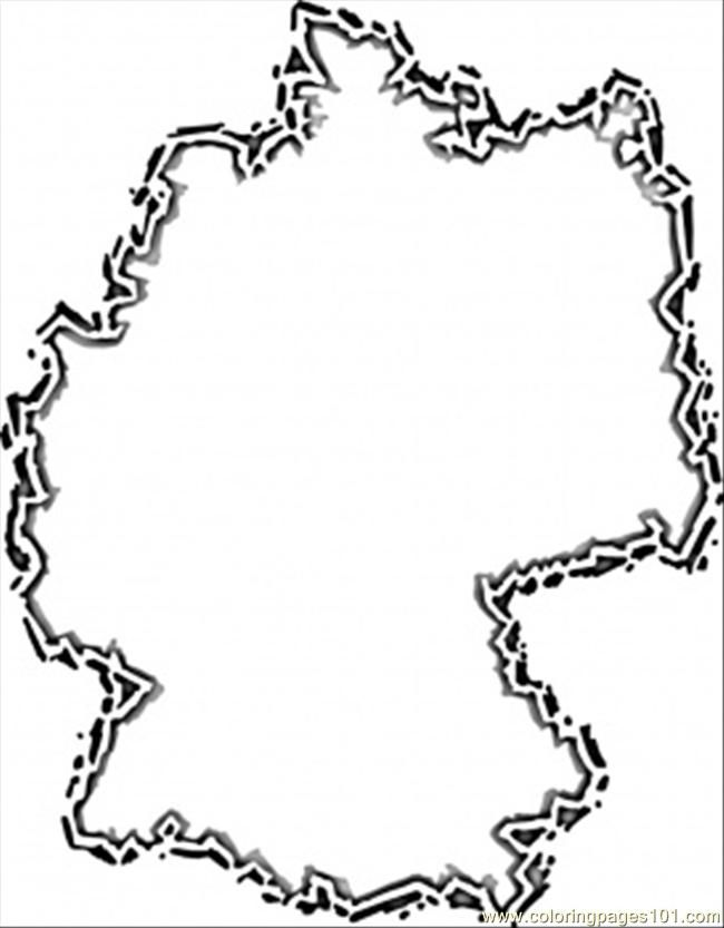 Printable Map Of Germany Coloring Home Coloring Pages Of In Germany