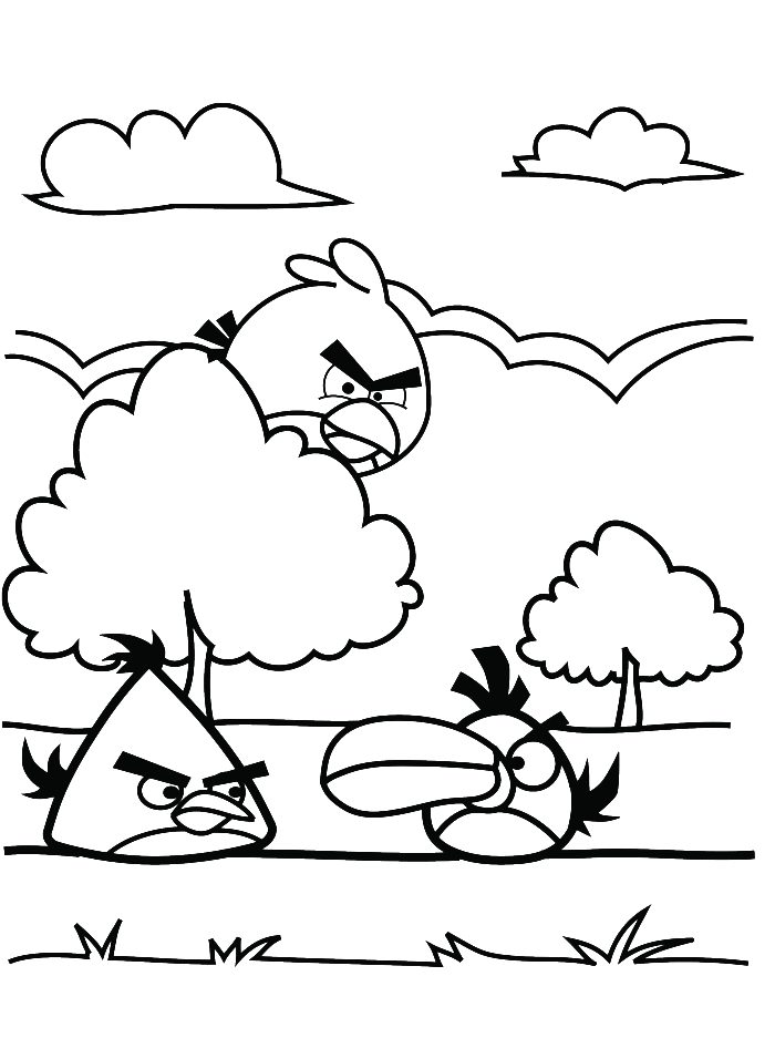 yellow angry bird coloring pages - photo#17