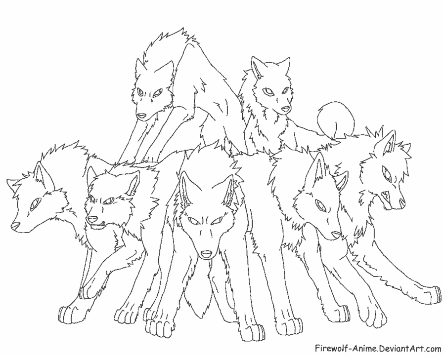 Wolf Coloring Pages Pdf : Anime wolf coloring quoteko home