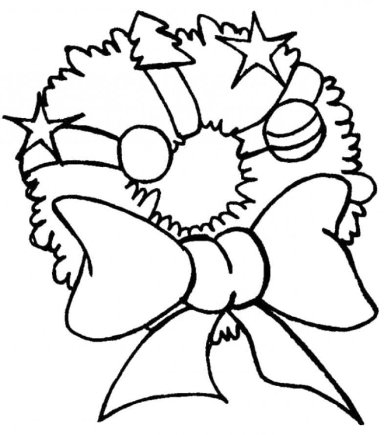 Ornament Cool Merry Christmas Coloring Page - Kids Colouring Pages