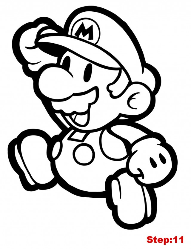 paper mario coloring pages - photo#4