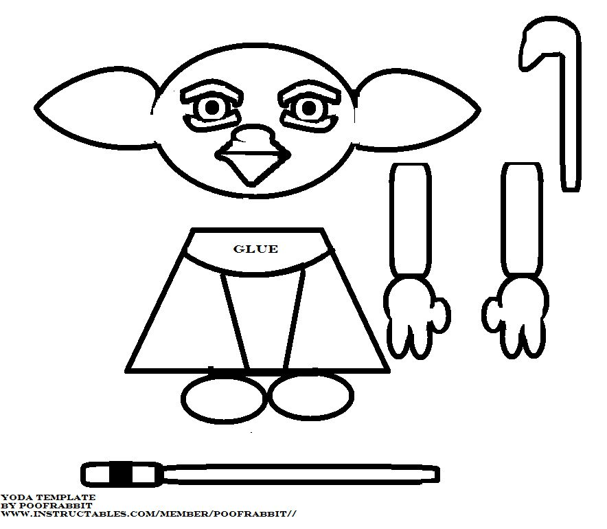 yoda head coloring pages - photo#23