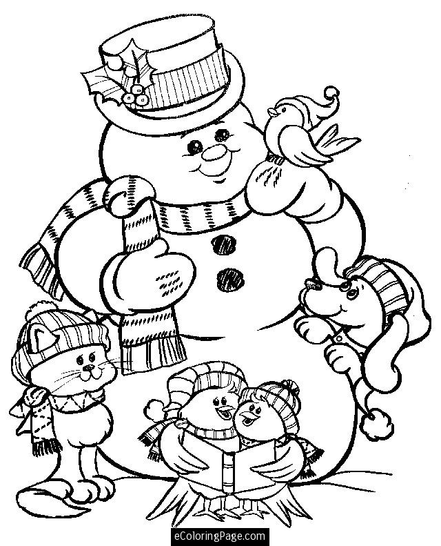 merry christmas color pages az coloring pages
