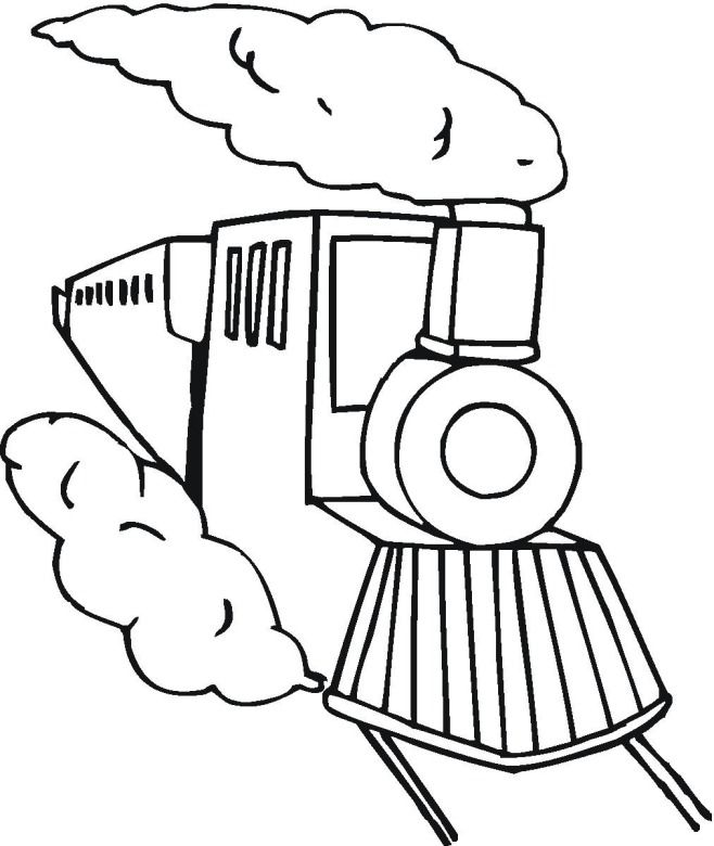 Toy Train Coloring Pages - KidsColoringSource.