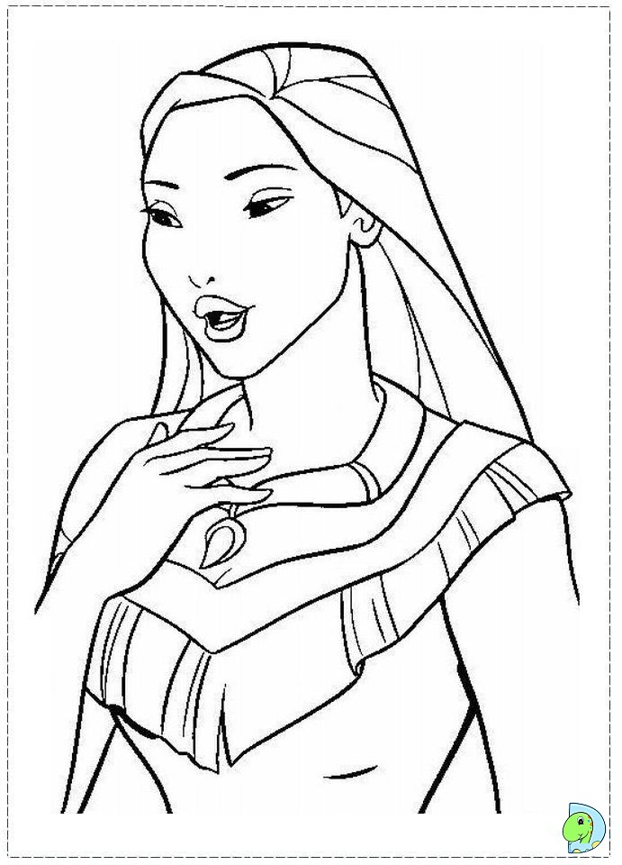 coloring pages pocahontas - photo#36