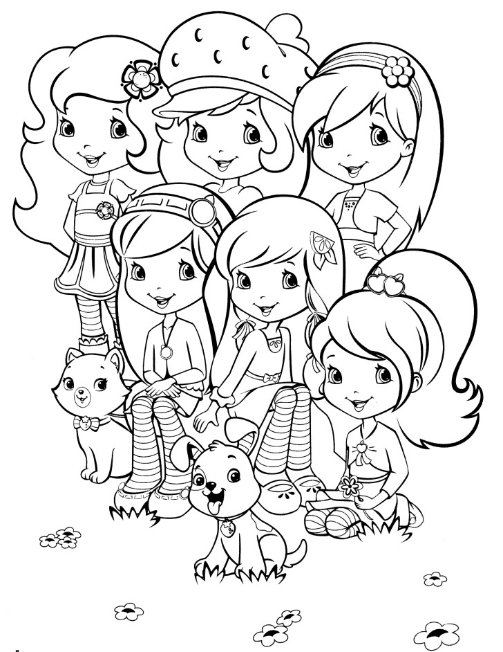 strawberry shortcake coloring pages online - photo#3