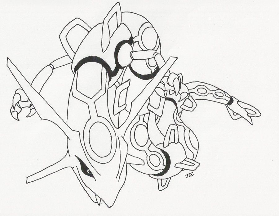 Pokemon Rayquaza Coloring Pages - Free Printable Coloring Pages
