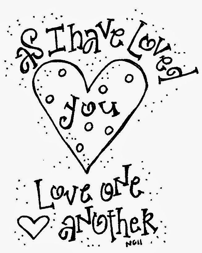 Love One Another Coloring Page - Coloring Home