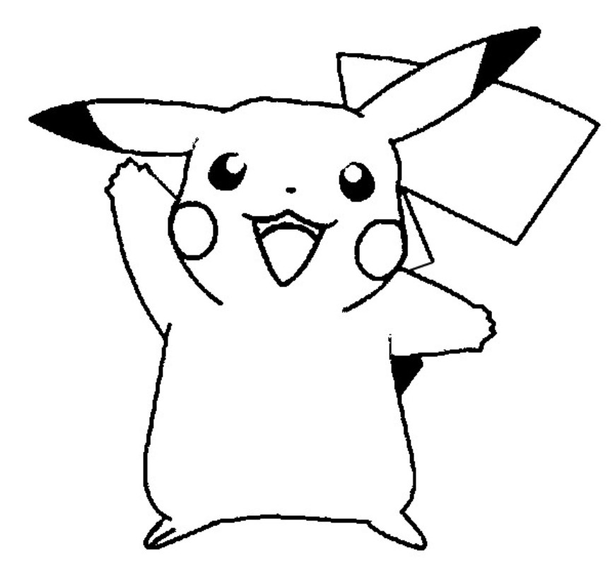 cute pokemon pikachu coloring pages - photo#12