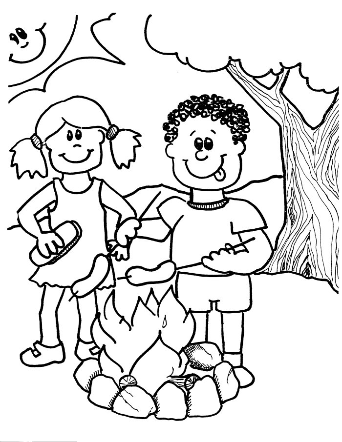 Summer safety coloring pages az coloring pages for Summer pictures for kids to colour