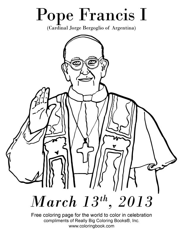 Coloring Books | Free Online Coloring Pages Pope Francis I