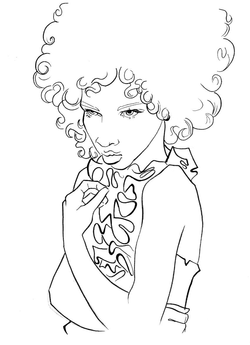 new hairstyle coloring pages - photo#5