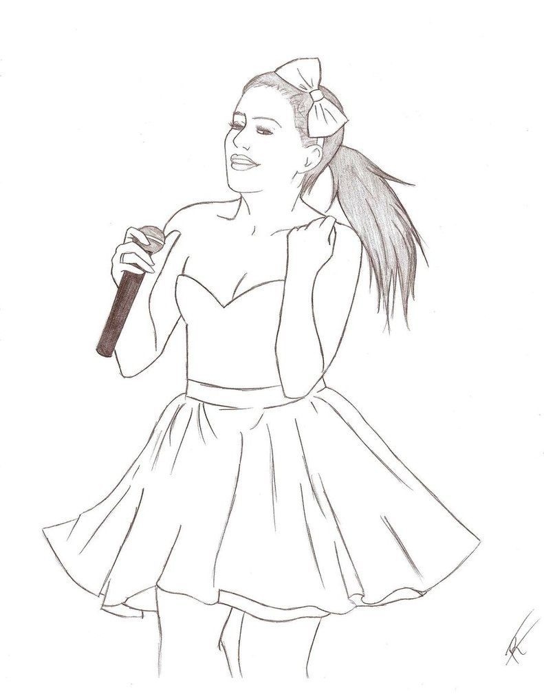 ariana grande coloring pages to color sketch coloring page