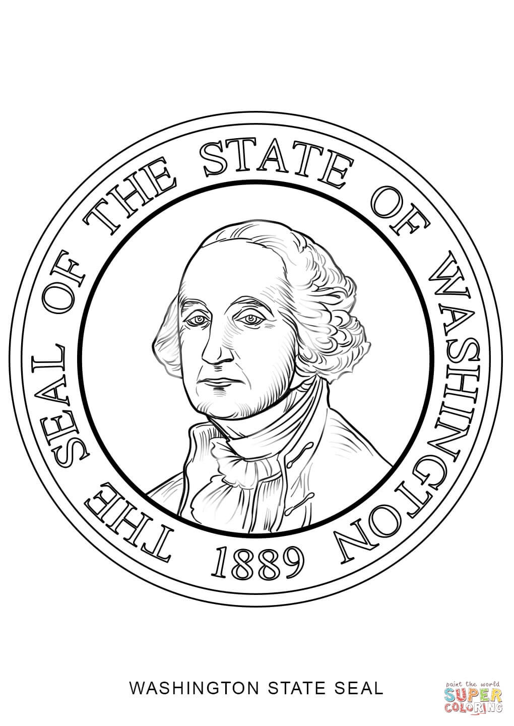 Washington state coloring page coloring home for Arizona state seal coloring page