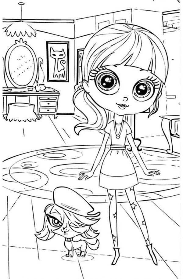 Little miss pet shop coloring pages coloring home for Shop coloring page