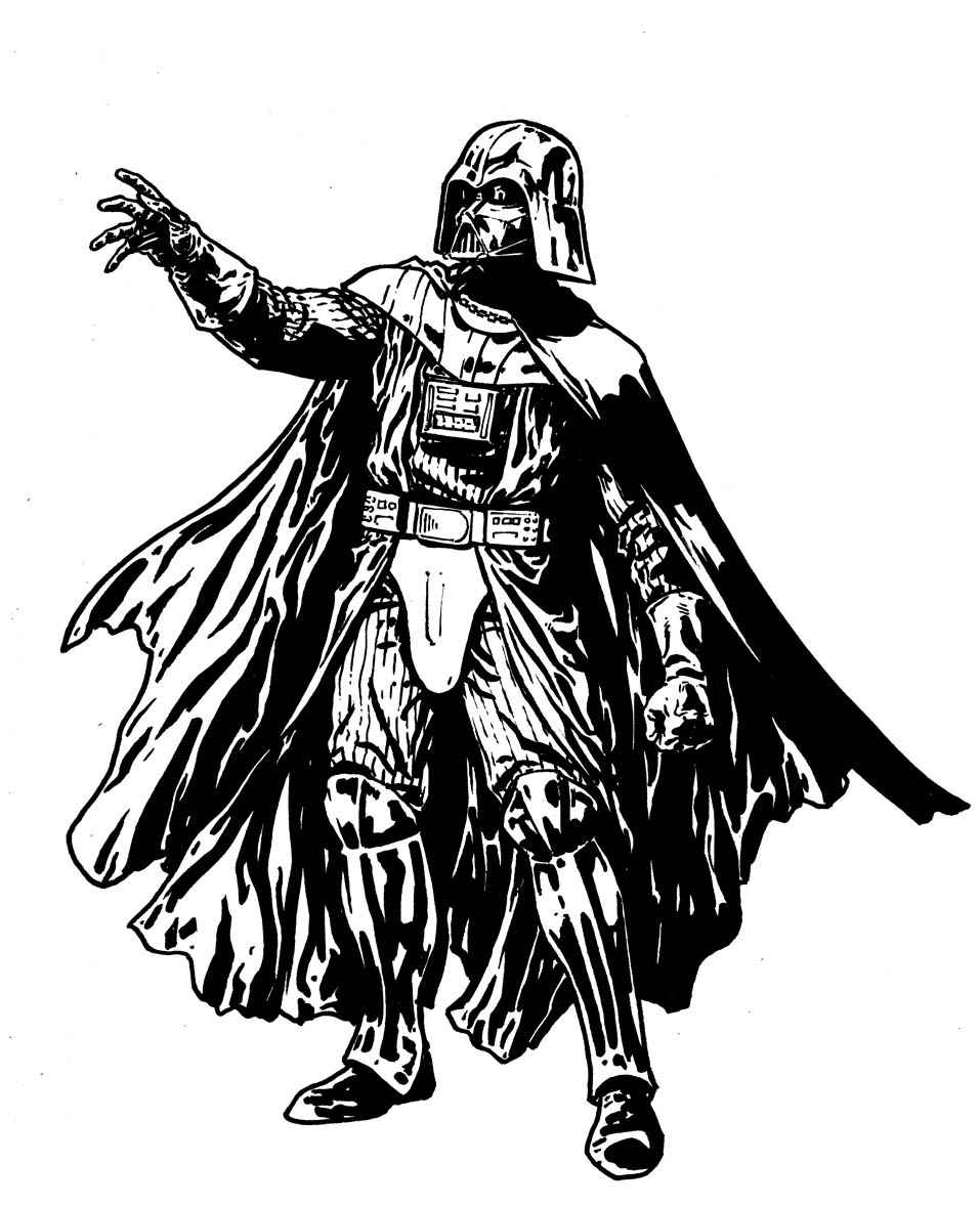 Darth vader coloring pages to print for star wars lovers
