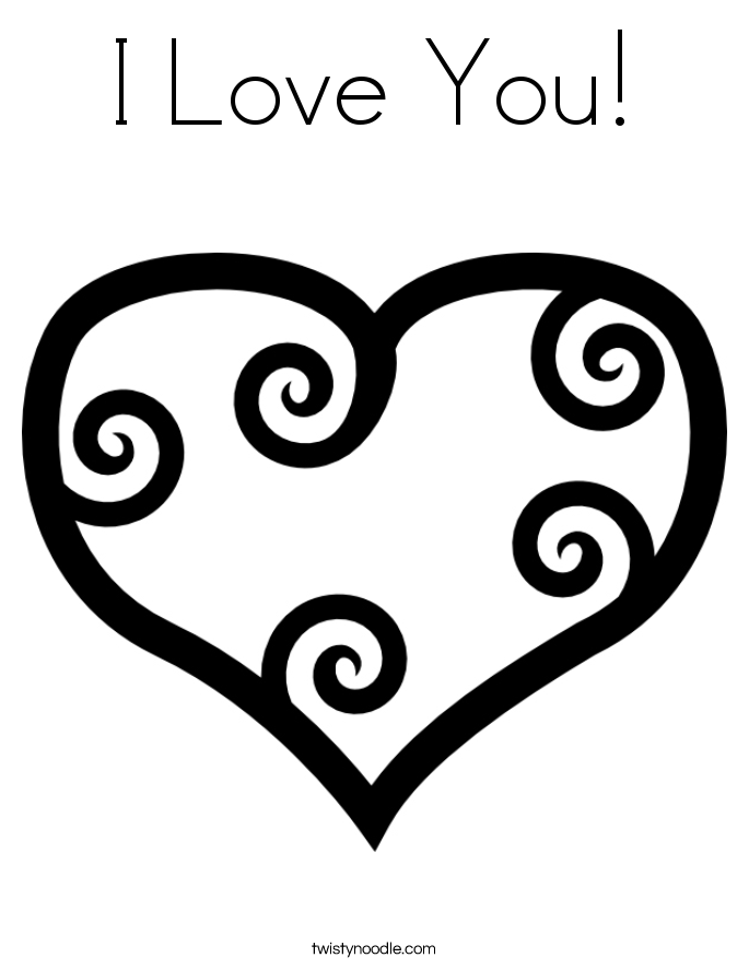 Valentine's Day Coloring Pages - Twisty Noodle