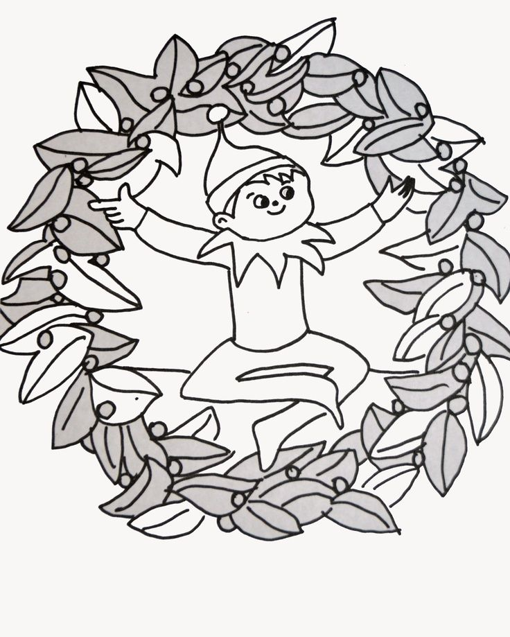 Elf On A Shelf Coloring Pages - Coloring Home