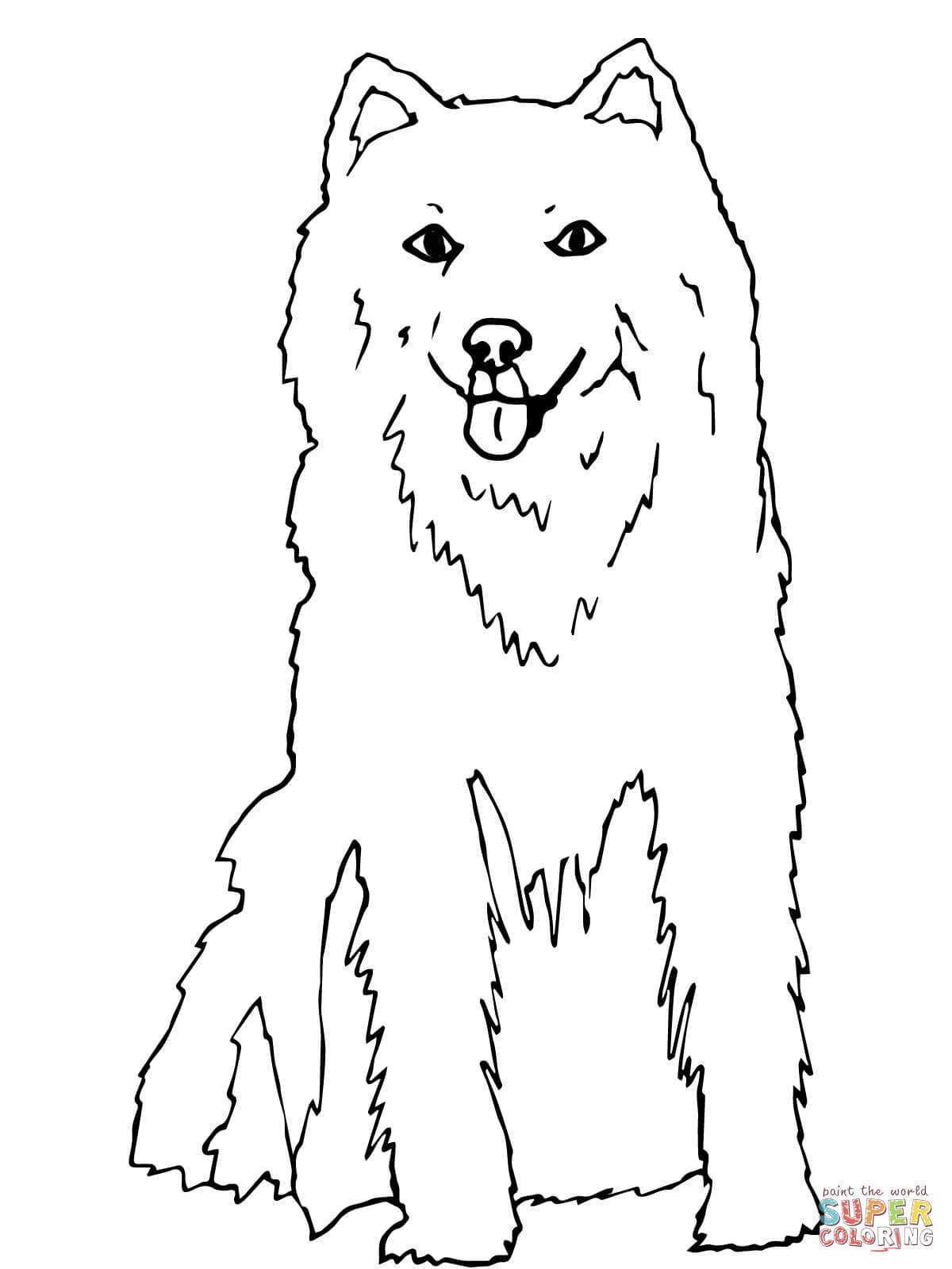 Siberian Husky Dog coloring page | Free Printable Coloring Pages