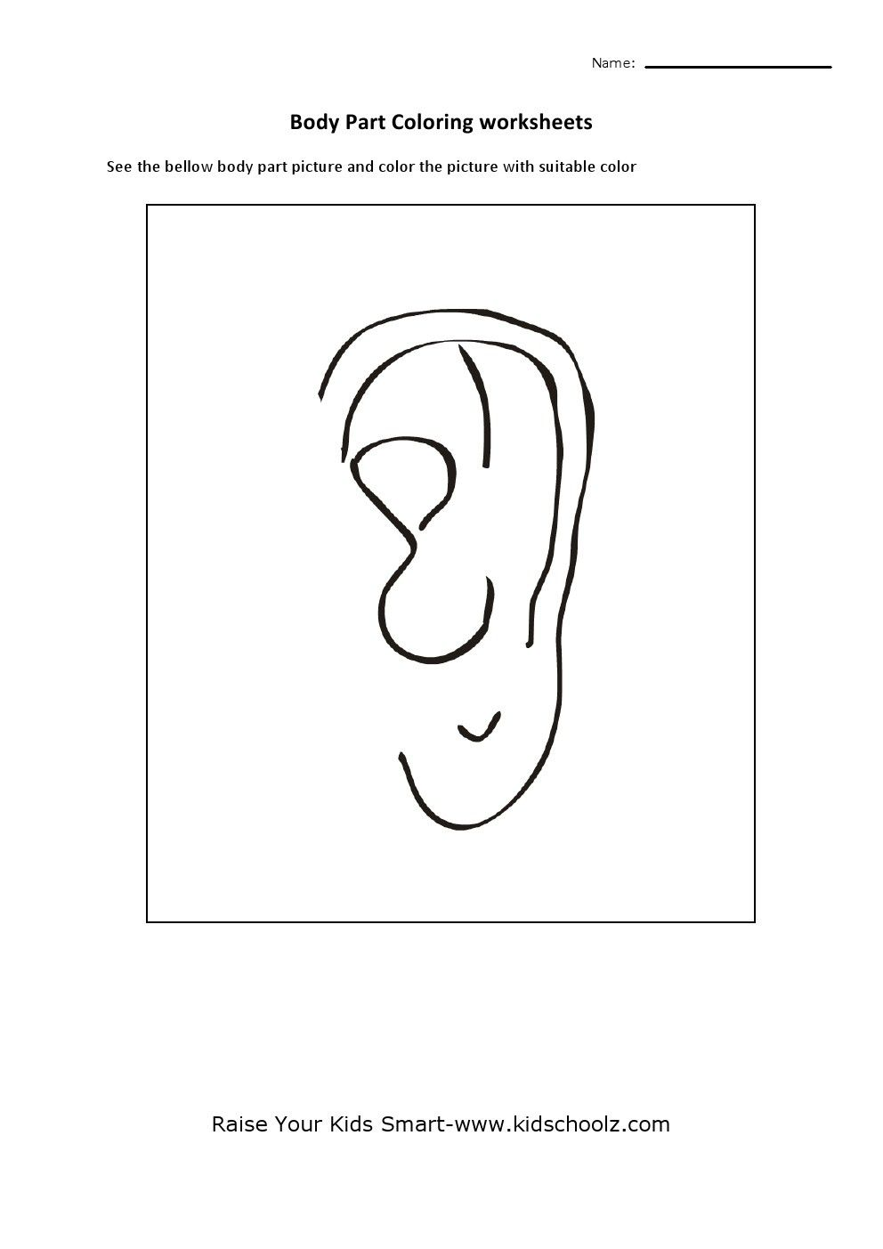 Printable Bunny Ears Coloring Pages Ear Free