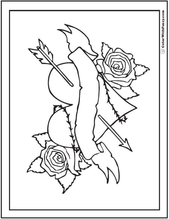 Rose Coloring Pages Pdf : Hearts and roses coloring pages home
