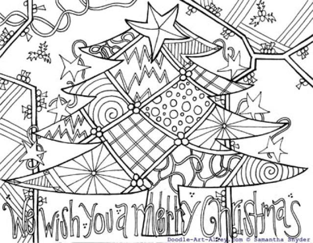 intricate coloring pages christmas - photo#37