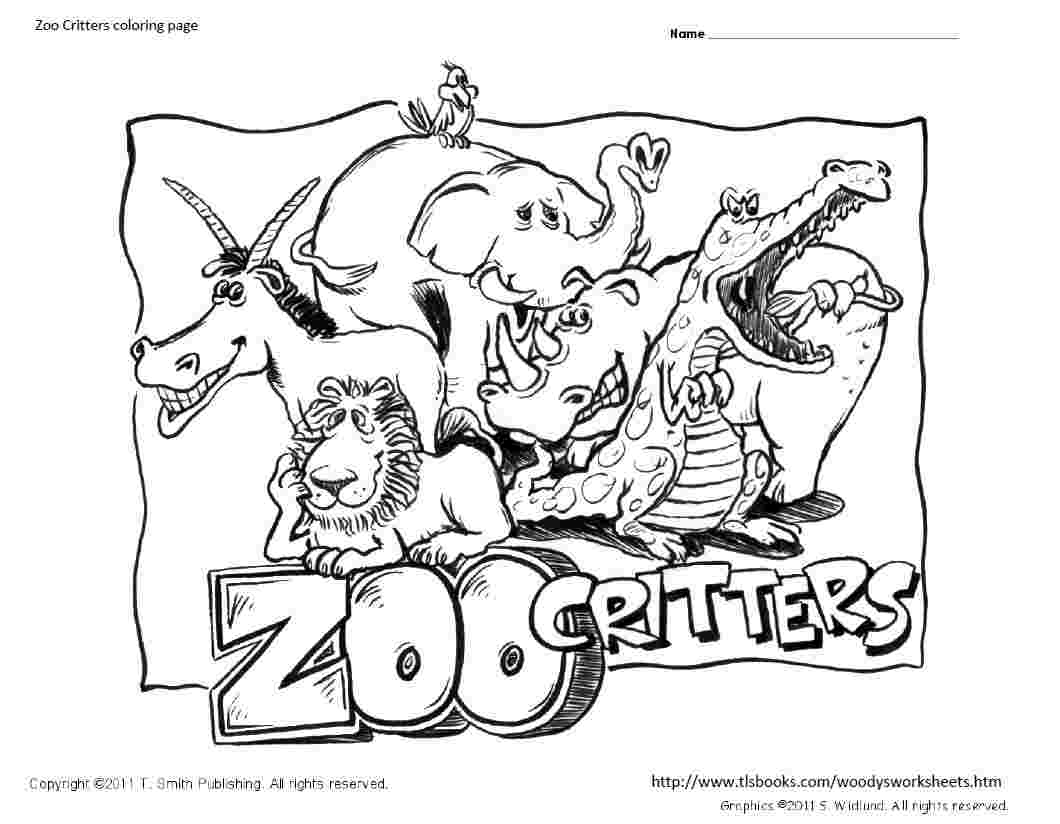 zoo critters coloring page coloring home. Black Bedroom Furniture Sets. Home Design Ideas