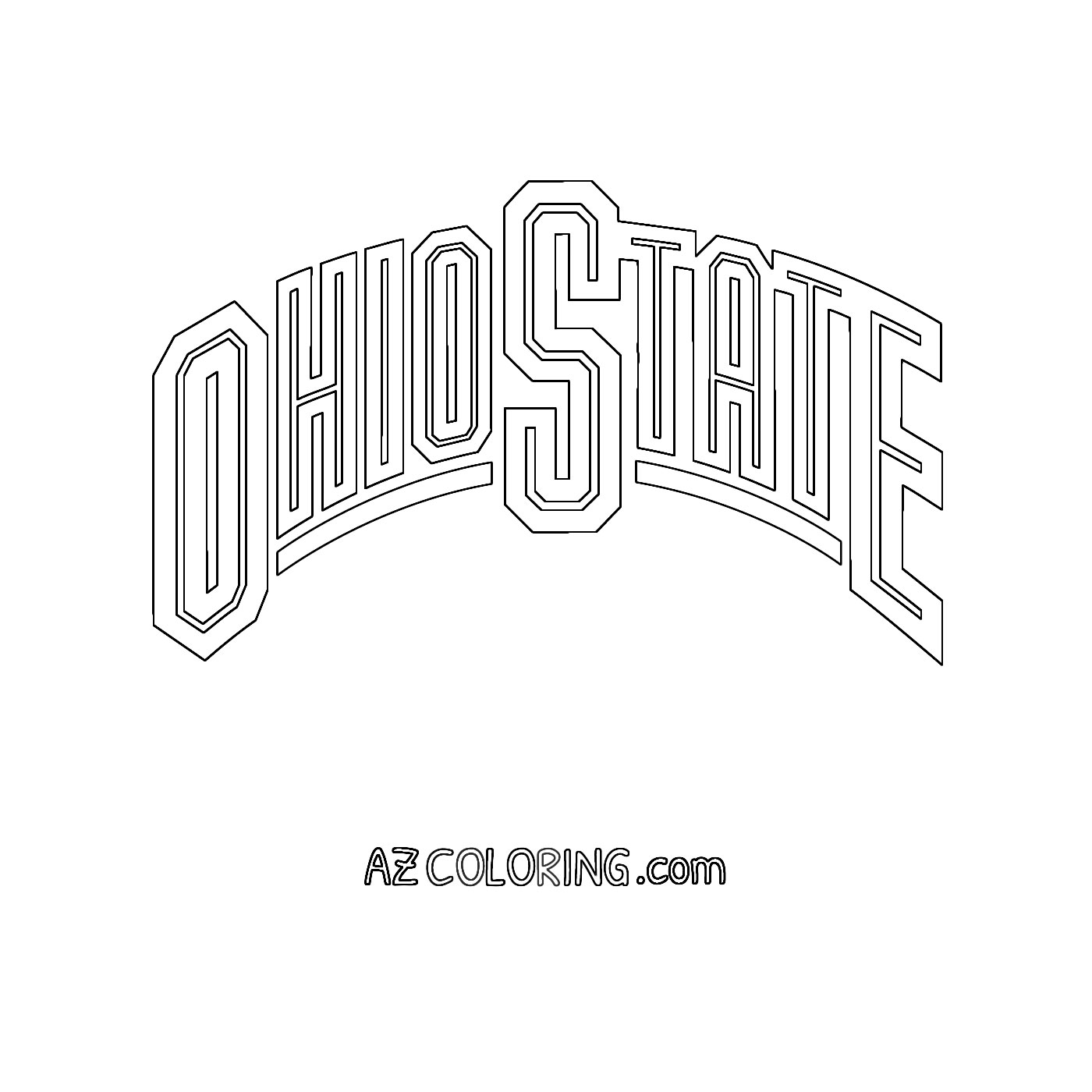 ohio coloring pages - photo#33