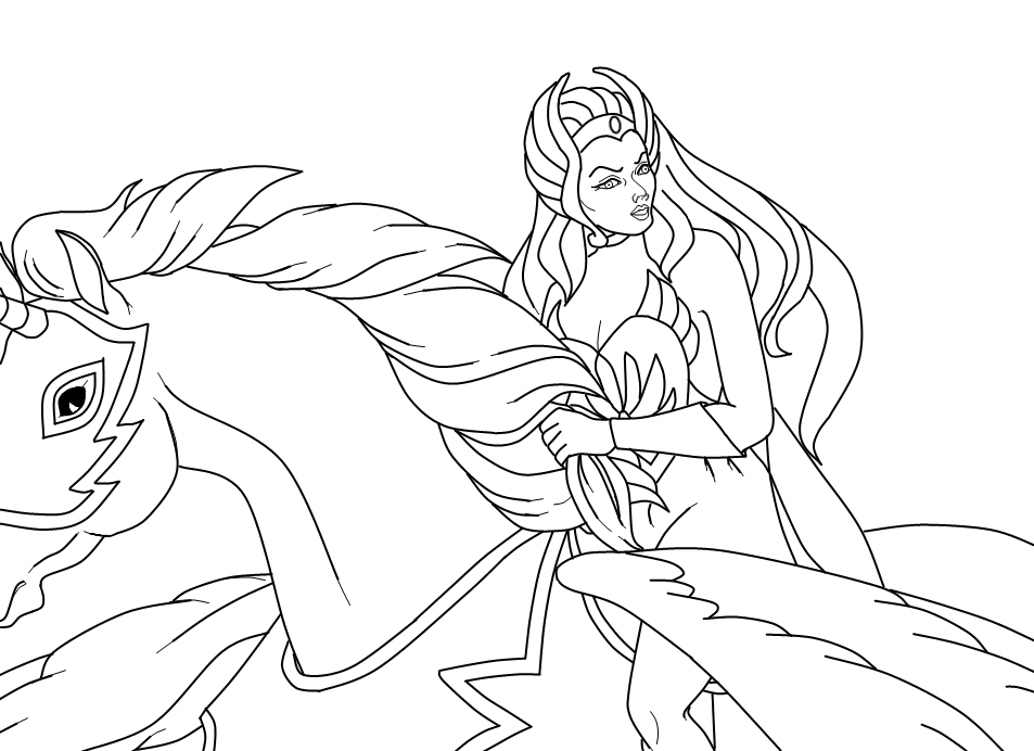 she ra coloring pages - photo#15