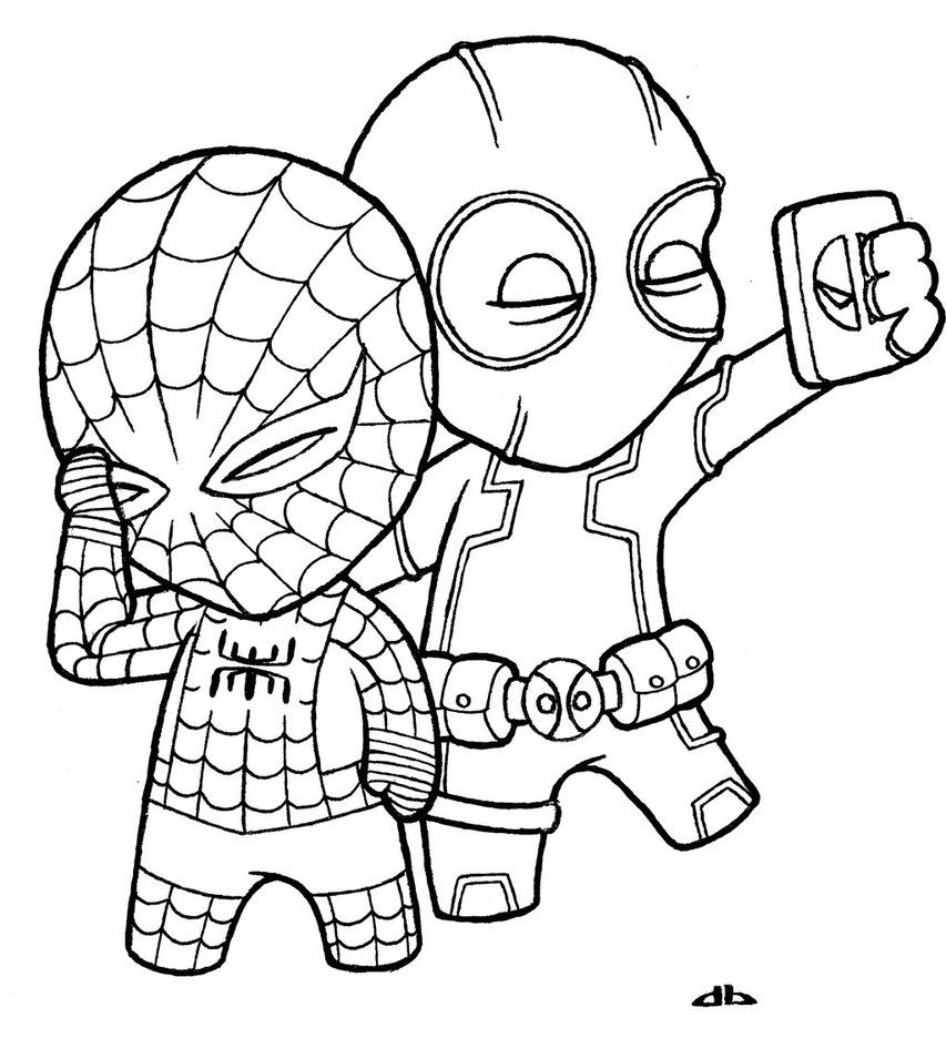 Deadpool - Coloring Pages for Kids and for Adults